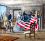 Betsy Ross shows the 13-stars flag, Original Thirteen Colonies