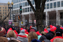 Trump Inauguration Day, 20/01/2017, crowds, buildings, hats, GNUD01_043