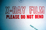 x-ray film, please do not bend