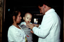 Mother with her Baby Boy, Well Baby Clinic, Doctor, Stethoscope, HHPV01P07_12