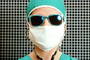 Woman Doctor, Glasses, Mask, Cap, Surgeon