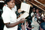 Nurse, Weighing a Toddler, Rushinga Zimbabwe