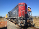 Construction for the new SMART train, EMD GP9, NWP 1922, Laying down Fiber Optic Cables, 2014, ICRD01_002