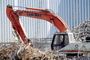 Link-Belt Crawler Excavator, E005, crane, World Trade Center rubble, New York City, detritus, rubble