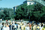 UC Berkeley, Sather Gate, Sproul Plaza, crowds, students, walking, arch, UCB, KECV03P03_07B