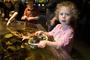 Girl playing with Sea Life, touch tank, hands-on, aquarium, sealife, starfish, hands-on exhibit, touch, KEPD01_018