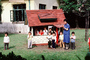 Boys, Girls, Playhouse, toy house, building, teacher, Tokyo Japan, October 1982, 1980's