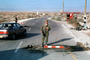 Checkpoint, Highway-90 along the Israel Jordan border in the West Bank, IDF, Israeli Defense Force, soldiers