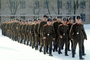 Marching Russian Soldiers, Military Academy, cold, snow