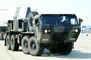 M-977 HEMT Tactical Truck head-on, Heavy Expanded Mobility Tactical Truck