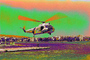 Psychedelic, HH-52 Sea Guard, Lake Merritt, Downtown Oakland, 1366, USCG, psyscape, MYCPCD3307_011B