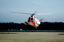 HH-52A Seaguard, flying, flight, airborne, hover, hovering, 1374, USCG Helicopter, SAR