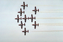 Smoke Trails, Canadian Snowbirds, formation flight, flying Airborne, MYFV02P12_15.1699