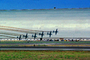 Flying shadow, Moffett Field, Hangars, EMB-312 Tucano, Smoke Trails, MYFV04P01_07