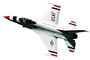 Thunderbird F-16 photo-object, object, cut-out, cutout