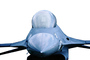 Lockheed F-16 Fighting Falcon, photo-object, object, cut-out, cutout