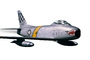 F-86H Sabre, photo-object, object, cut-out, cutout, MYFV10P06_04F