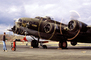 B-17 Flyingfortress, spinning props, propeller