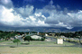 Hickam Air Force Base, Barracks, Housing, clouds, Honolulu Hawaii, 1950's