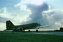 Cumulus Cloud thunders over the venerable C-47, USAF