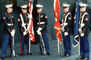 Marine Detachment for Security on Board the USS Ranger, Color Guard