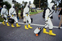 chemical warfare, biological, man, boots, suits, Operation Kernel Blitz, Monterey, Abbey Road, urban warfare training, MYMV01P15_18