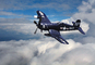 Vought F4U Corsair in flight, USN, United States Navy, milestone of flight
