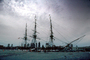 Boston Harbor, Charleston Navy Yard, Harbor, Rigging, Mast, USS Constitution, MYNV01P10_09