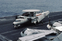 Grumman E-2C Hawkeye, NE-602, 163027, VAW-116 'Sun Kings', folded wings, MYNV06P12_19