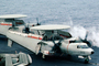 "NE-603, 163028, Grumman E-2C Hawkeye, VAW-116 ""Sun Kings"", USS Ranger (CVA-61), folded wings"