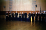 Men, Graduation, Black Suits, standing in attention, MYNV08P01_02