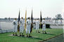 Color Guard, Men, Graduation, White Suits, standing in attention, MYNV08P01_03