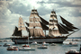 Amerigo Vespucci, Italian Sailing Ship, full rigged sail, boats, MYNV10P02_09
