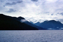 Kingcome Inlet, fjord, Mountains, water, coast, coastline, clouds, April 1996, NCBV01P09_15