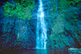 Waterfall, Rain Forest, Island of Tahiti, NDPV01P03_17