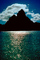 Mount Otemanu, Clouds, Mountains, Ocean, Pacific Ocean, Island of Moorea, NDPV02P07_12.0676