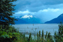 Mountains, clouds, Mud Flat, wetlands, Turnagain Arm
