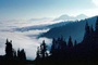 Clouds, Layered Mountains, ridgeline, trees, NNTV01P06_01