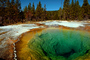 Morning Glory Hot Spring, Geothermal Feature, trees, forest, Hot Spring, activity, Extremophile, Thermophile, NNYV02P03_06.0938