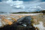 river, stream, clouds, runoff, Extremophile, moss, Geyser, Geothermal Feature, activity, NNYV04P12_15.0940