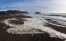 Foam from the Pacific Ocean, Russian River mouth, Sonoma County, NPND04_276