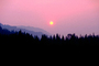 Trinity County, fire smoke sunset, NPNV02P10_13.1265