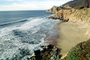 Waves, Cliffs, Beach, Peaceful, Calm, Bucolic, Horizon, NPNV09P09_13