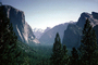 Yosemite Valley, El Capitan, Granite Cliff, forest, trees, NPYV01P01_10