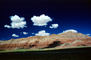 Puffy Clouds, Barren Landscape, Mountains, Cumulus, NSAV01P03_02