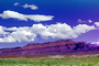 Cumulus Clouds, east of Moab, Castle Valley, Mesa, cliffs, geologic feature, Paintography, NSUV06P02_12B