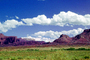 Cumulus Clouds, east of Moab, Castle Valley, Mesa, cliffs, geologic feature, mesa, NSUV06P02_13