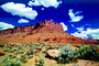 Moab Mesa, clouds, cactus, Mesa, Mountains, Castle Valley, east of Moab, geologic feature, Paintography, NSUV06P04_03B