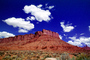 Mesa, clouds, Mountains, Castle Valley, east of Moab, geologic feature