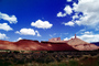 Mesa, Mountains, knob, cumulus clouds, geologic feature, clouds, butte, Castleton Tower, Castle Valley, east of Moab